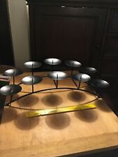 10 Candle Holder, Decorative Centerpiece, Fireplace Candelabra