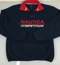 Nautica Competition Men PullOver Small Blue & Red- Very Good Condition