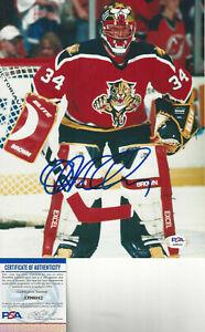 Florida Panthers JOHN VANBIESBROUCK autographed 8x10 close up photo PSA DNA Cert