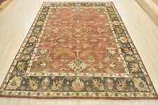 Oushak Rug, 8'x10', Red/Grey, Hand-Knotted Wool Pile