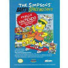 NINTENDO NES Simpsons BART VS. THE SPACE MUTANTS video game magazine print ad
