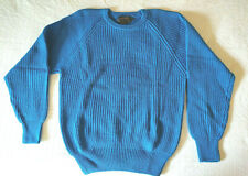 Vintage Eddie Bauer Men's Turquoise Crew Neck Pullover Sweater Small