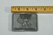 Fighting Cock Kentucky Bourbon Whiskey Pewter Belt Buckle Vintage