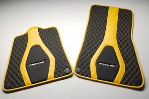 Mclaren 720, 600LT, 650 custom floor mats black/yellow