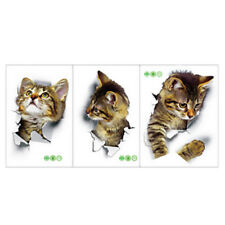 Adorkable Cats Wall Decals Baby Nursery Kids Bedroom Stickers Art Decors