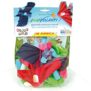 HAPPY MAIS - Gioco Ecovolanti Astronavi Pipistrelli HM-VOLMAS ecotoys