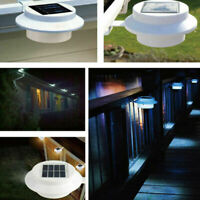 Gutter Lights LED Solar Powered Outdoor Garden Yard Wall Pathway Fence Lamp