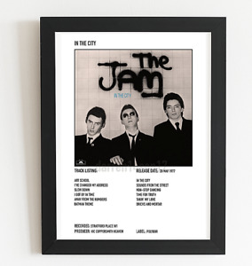 The Jam Poster In the City Album Art Polaroid Style poster A3 / A4 Valentines