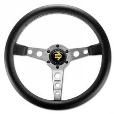 Momo Steering Wheel Prototipo 350mm Black Leather with silver spokes