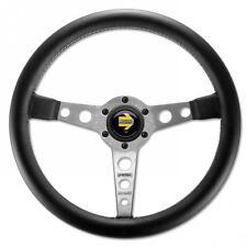 Momo Steering Wheel Prototipo 350mm Black Leather with silver spokes