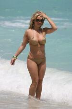 Sexy PHOTO 4x6 Amanda Harrington in Golden Bikini #005