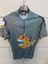 Maillot cycliste CANNONDALE Poisson Fish cycling shirt vert S made in USA