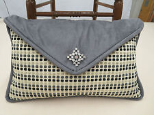 Pindler & Pindler Fabrics Chenille Envelope Pillow Brooch Feather Down 22 x 13.5