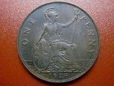 "British Penny 1928 King George V Britannia ""High Grade"" Copper (928)"
