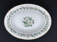 "Princess China Tru-Tone Bridal Wreath Serving Bowl Oval 10"" Vegetable EUC"