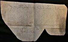 KING LOUIS XV SIGNED EXEMPTION LETTER ON LARGE PARCHMENT - 1742 Rey Luis XV