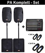 "6000 Watt 46cm/18""  Powermixer 8-Kanal MUSIKER DJ PA MUSIKANLAGE   mit Kabel"