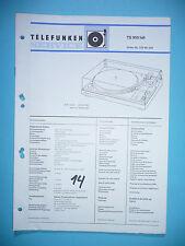 Service Manual-Anleitung für Telefunken TS 950 ,ORIGINAL