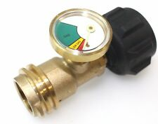 Propane Tank Brass Adapter W/ Pressure Meter Gauge 4 Master LP Gas Grill BBQ RV