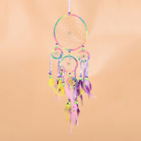 Lovely Five Rings Dream Catcher Children Bedroom Hanging Decoration Accessory