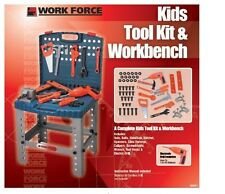 Workshop Pretend Play Kid Boy Child Garage Work Bench Tool Set FUN BIRTHDAY XMAS