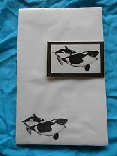 Whale Mom and Baby 2 Piece Set - Notepad and Magnet New