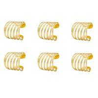 Gold Servietten e Set Von 6, Hohler Servietten Halter für Hochzeit Weihnachten