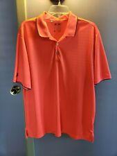 Men's Adidas Golf Red/Mango/Pink Polo Short Sleeve Polyester Clima Cool Shirt Xl