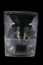 HOUSSE  PROTECTION POUR THERMOMIX TM5/TM31 Avec Varoma Transparente Biais Blanc