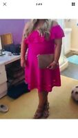 Ted Baker Pink Off Shoulder Dress Size 5(16)