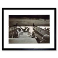 "War D Day Landing Normandy WWI WW2 Framed Art Print Picture Mount 12x16"""