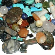 NG2487f Beautiful Assorted Mixed Color, Shape & Size Gemstone Beads 50-Grams