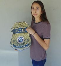 """I.C.E. BADGE all Metal Sign 13"""" x 17"""" SIGN       See Video For discount"""