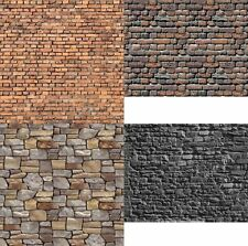 # 4 Sheets 4 types wall Ho 1/87 21x29cm Embossed Bumpy Paper Code Fhh4a