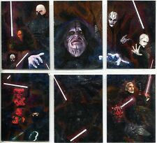 Star Wars Galaxy 7 Complete 6 Card Etched Foil Puzzle Chase Set