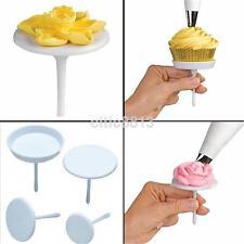 4PCS Icing Cream Stand Cake Cupcake Nail Set Flower Sugarcraft Decorating AU