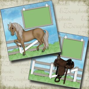 Horse Life - 2 Premade Scrapbook Pages - EZ Layout 4074