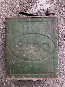 Vintage Esso oil Petrol Can 1930's Automobilia