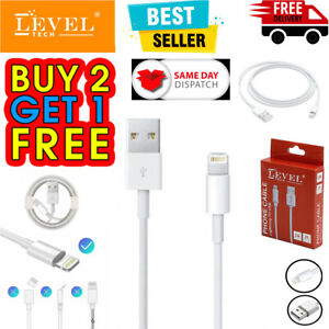 LEVEL TECH iPhone Charger for Apple iPhone 13 12 11 X 6 7 8 USB Data Lead Cable