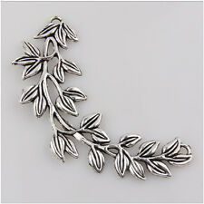4 Big Leaves Tibetan Silver Charms Pendant Jewelry Making Findings 85mm EIF0130