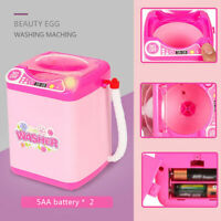 Mini Electric Washing Machine Toy Pre School Toy Wash Makeup Brushes Sponges
