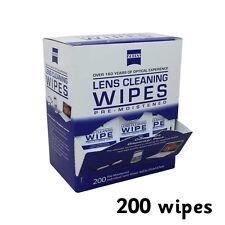 200 Lente Zeiss Pre-humedecido paños de limpieza limpie limpiador de Cámara Óptica Gafas