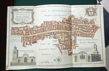 1754 CITY OF LONDON HAND-COLOURED MAP OF ALDERSGATE WARD BY COLE TO WILLIAM BENN