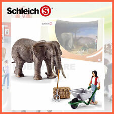 NEW SCHLEICH WILD LIFE SCENERY ELEPHANT CARE SET 41409 HAND PAINTED