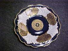 """Weimar Jutta Cobalt & Gold 12 3/4"""" Round Platter"""