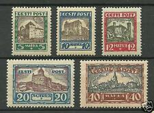 Estonia ,, Estland 1927 Castles Michel 63 - 67 - MIN NO GLUE  full set free ship