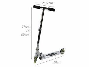 Cityroller Kinderroller Teeniescooter Kickroller Tretroller Aluminium Silber