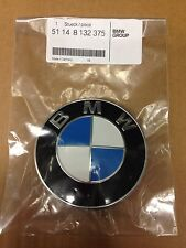 NEW BMW Hood Emblem OEM Genuine Nameplate Front Roundel Badge 51148132375