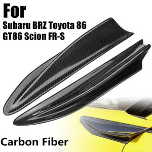 For Subaru BRZ Toyota 86 GT86 Scion FR-S 2Pcs Side Fender Fin Vents Carbon Fiber