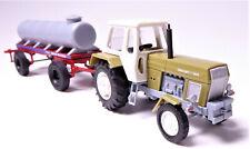 H0 BUSCH Traktor Fortschritt ZT 300-D grün + Wasserwagen Viehtränke LPG # 42844